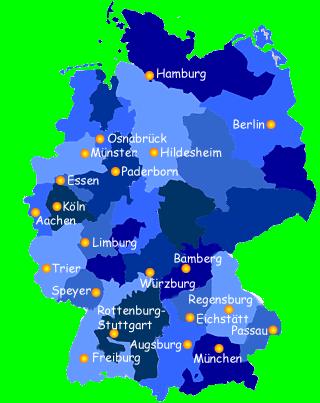 deutschlandkarte osnabrück Kontakt   Christliche Arbeiterjugend Deutschland